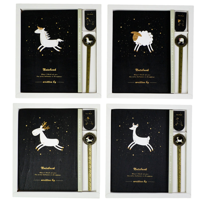 Agenda Lemn Starry Animals