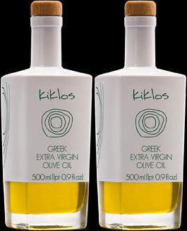 Two Bottles of Kiklos Olive Oil