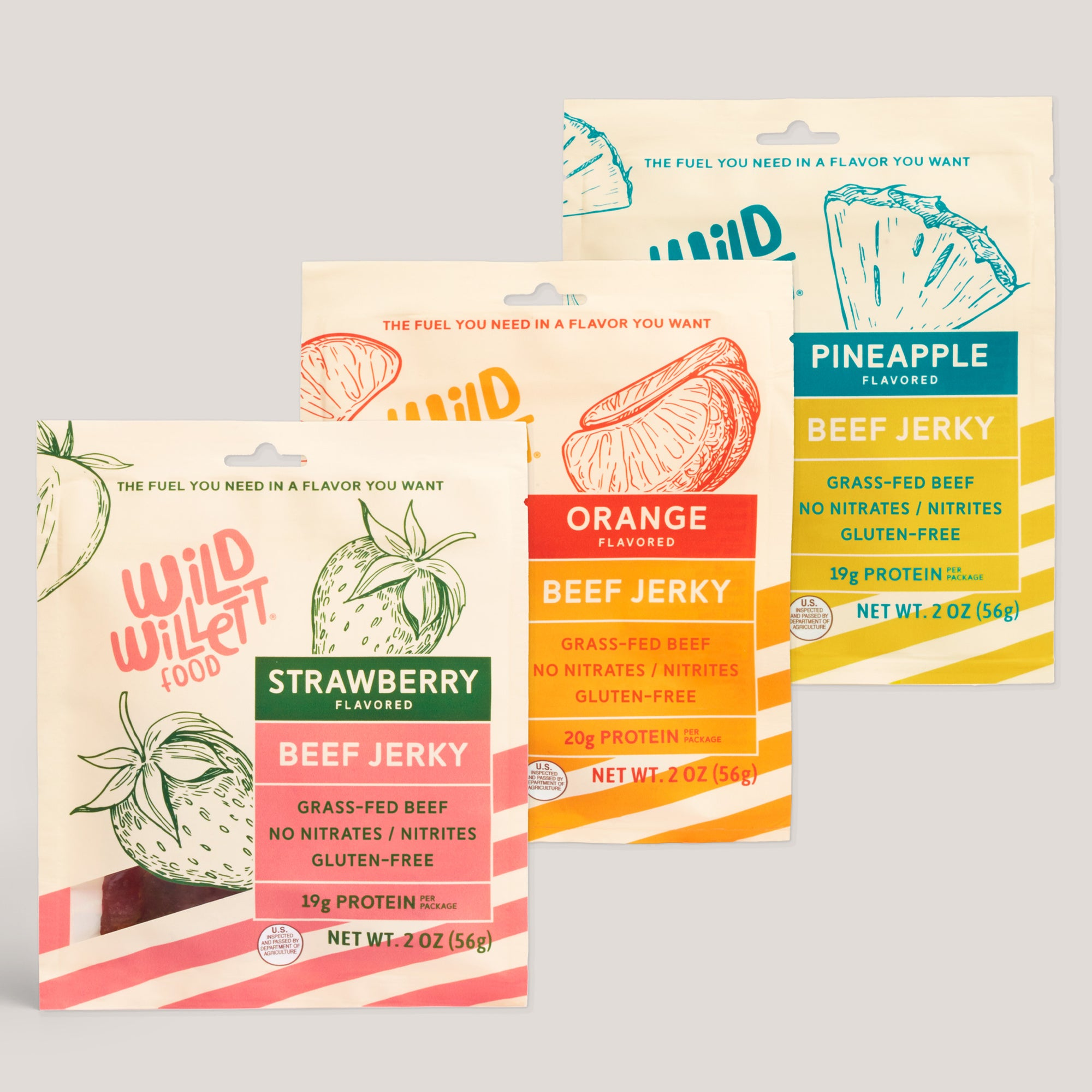 Wild Willett Variety Pack Grass-Fed Beef Jerky