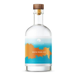 white pearl gin bottle