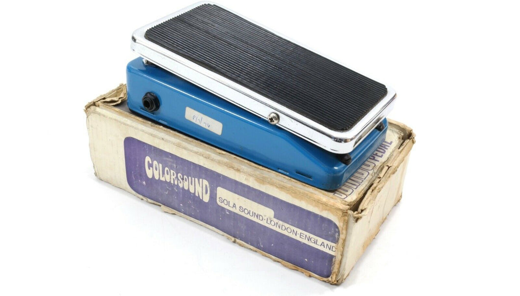 Colorsound Fuzz Phaser...vintage 1973, blue with box