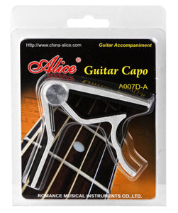 Alice Acoustic Guitar Capo In Silver | Accessories