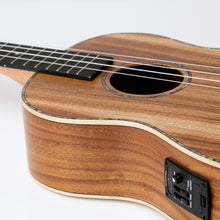 Load image into Gallery viewer, ISUZI EAK-BEQ Asian Koa Electro-Acoustic Baritone Ukulele | Ukulele