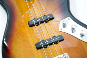 Squier Fretless Vintage Modified Jazz Bass in 3 Colour Sunburst Electric bass [USED APPROVED]