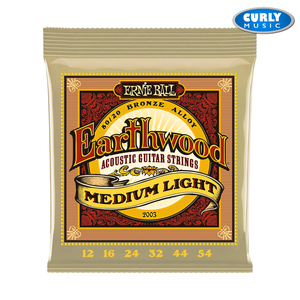 Ernie Ball - Earthwood Medium Light 80/20 Bronze Acoustic Guitar Strings - 12-54 | Accessories