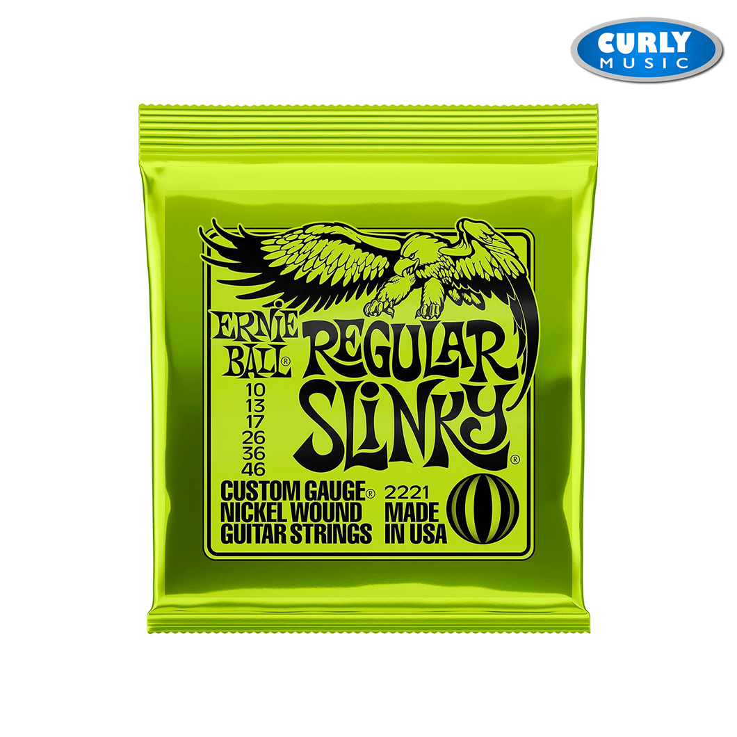 Ernie Ball 10's - Regular Slinky Nickel Wound Electric Guitar Strings 10-46 Gauge | Accessories
