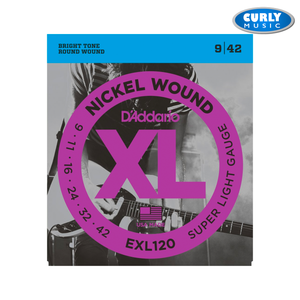 EXL120 Super Light Gauge set 9-42 Electric Guitar Strings | Accessories