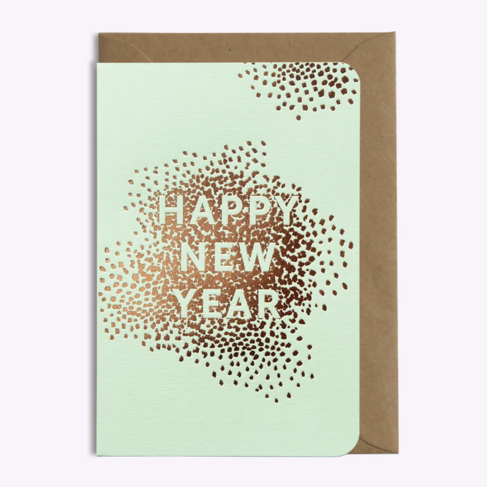 "Boutique iTEMS - Carte ""Happy New Year"" de la marque Les Editions du paon."