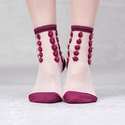 Boutique iTEMS - Chaussettes London Eye Bordeaux de la marque Atelier Saint Eustache.