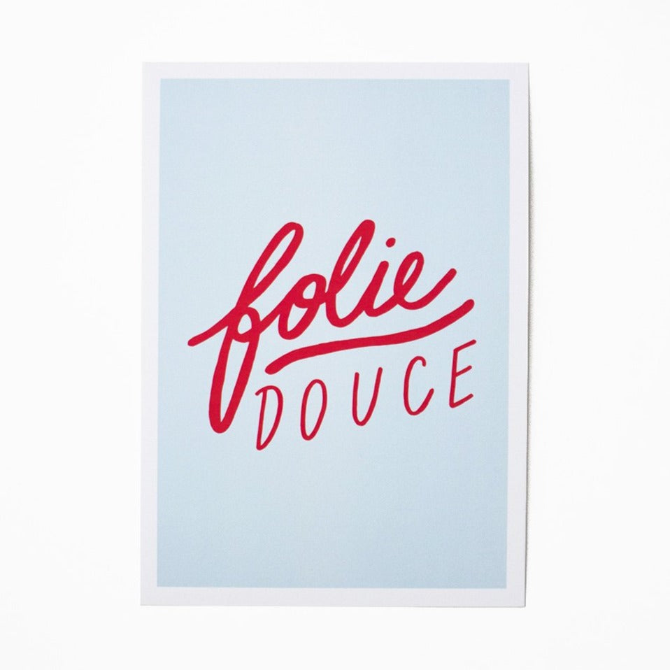 "Boutique iTEMS - Affiche A4 ""Folie Douce"" de la marque parisienne Jonesie."