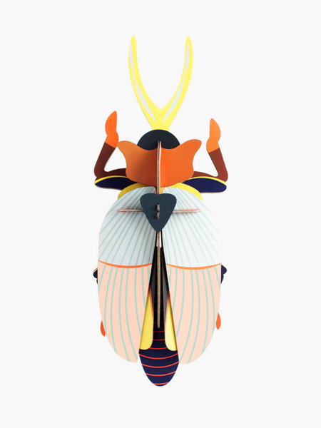 Boutique iTEMS - Rhinoceros beetle en carton 3D de la marque hollandaise studio Roof.