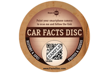 Load image into Gallery viewer, Classic Car Facts Disc