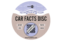 Load image into Gallery viewer, Modern Car Facts Disc