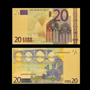 Euro Gold Foil Banknote Note