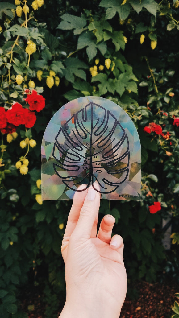 Hemleva Monstera  Suncatcher