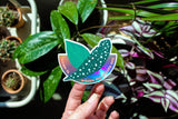 Hemleva Home is Where My Plants Are • Holographic Sticker