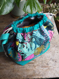 Made to order - Botanical yarn - Project bag style 01 -  jungle print