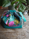Made to order - Botanical yarn jungle project bag