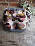 Made to order - Botanical yarn project bag ginko leaves