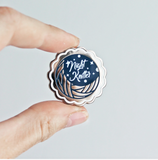 Twill & Print - Night Knitter Enamel Pin