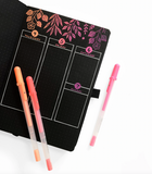 Archer & Olive B5 Shooting Star Blackout Dot Grid Notebook/Bullet Journal