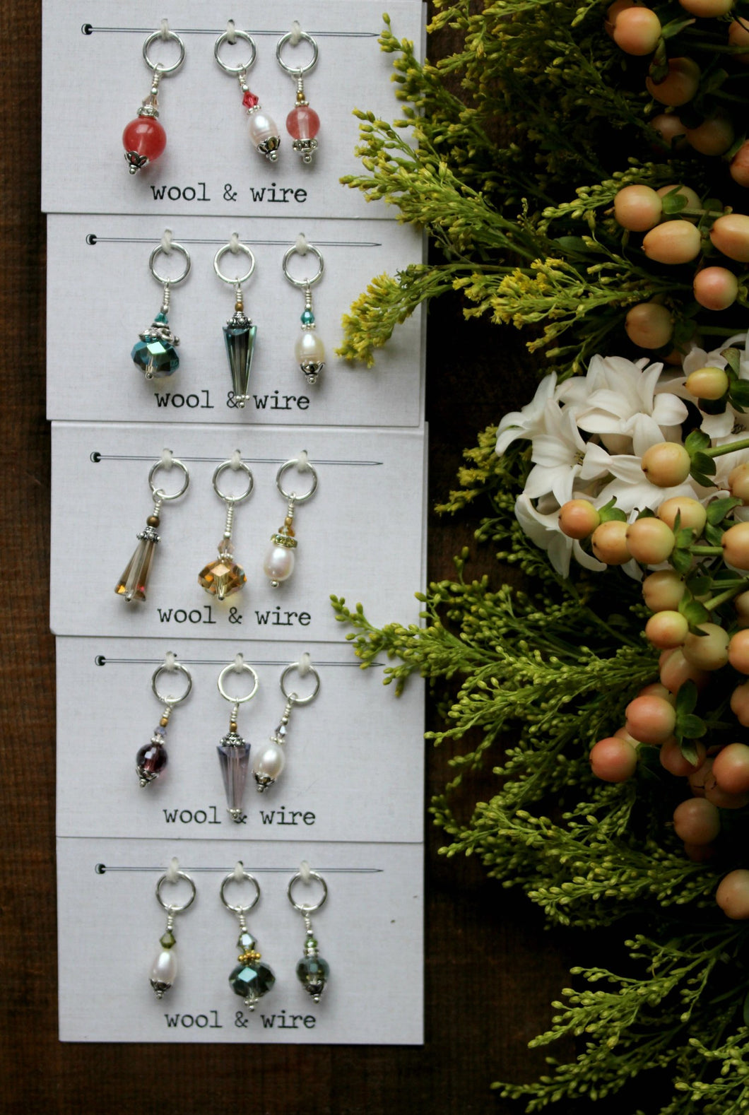 Wool & Wire Stitch Markers (set of 3)