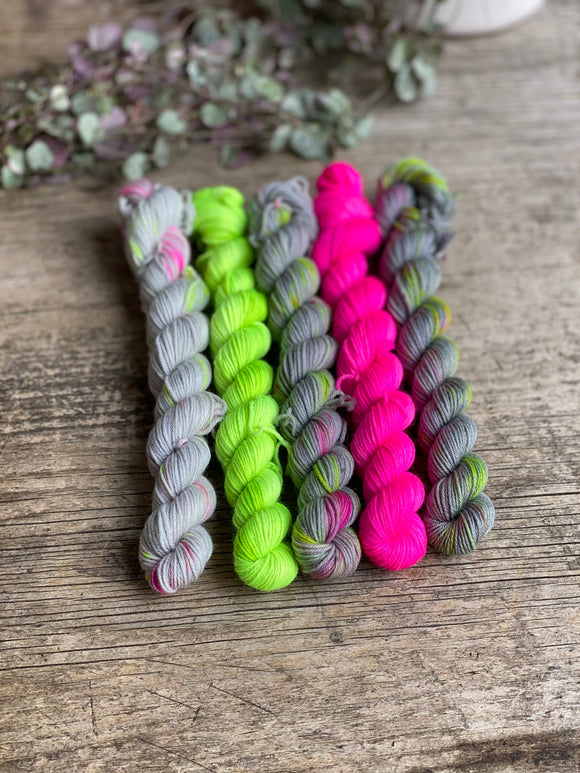 Ready to ship - mini skein set - spring neon