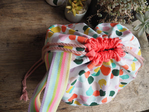 Made to order - Botanical yarn project bag paint splotches