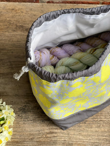 Made to order - Botanical yarn - Project bag style 01 -  design 12
