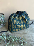 Made to order - Botanical yarn - Project bag style 02 -  design 09