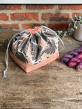 Made to order - Botanical yarn - Project bag style 01 -  design 11
