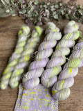 Dyed to order - Botanical yarn - Lilac sparks