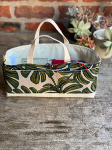 Made to Order - Botanical Yarn - Monstera Leaf Tool bag