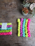 Neon mini skein set