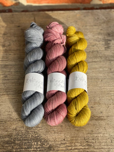 Dyed to order - Non superwash Three Skein Kit no 01