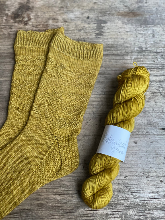 "Dyed to order - Sock kit - ""Come Little Leaves"""