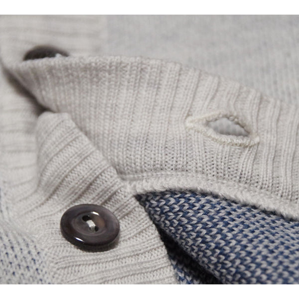 Merino Hooded Cardigan : Grey