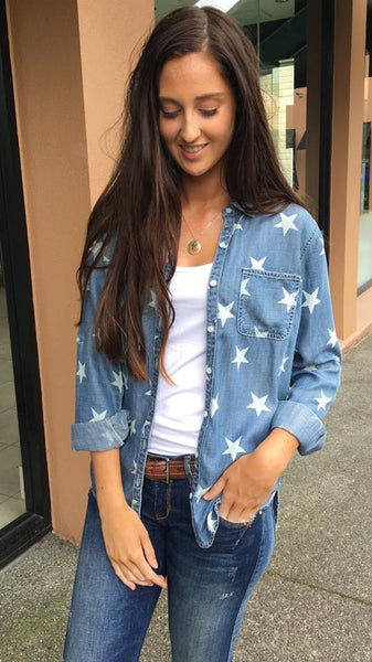 Amongst Stars Chambray Shirt