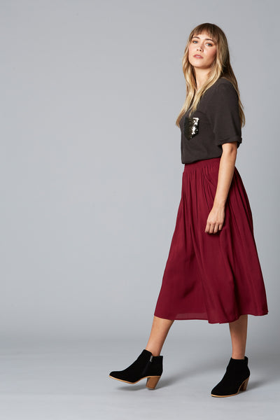 Isle of Mine Dawn Skirt Plum