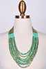Beaded Layered Necklace  MINT