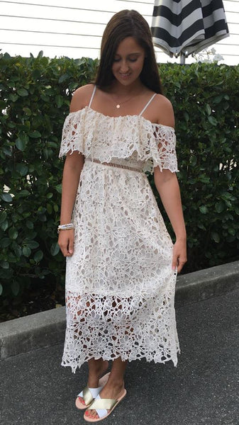 Minx Lace Dress OFF WHITE