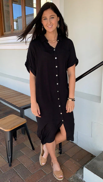 Eb & Ive Ohana Shirt Dress Sable
