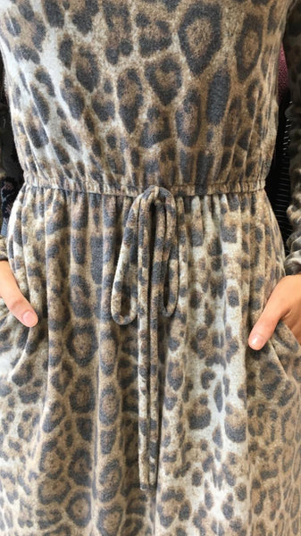 Vera Long Sleeve Dress Brown