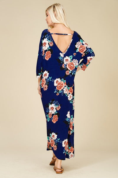 Royal Resort Maxi Dress  NAVY