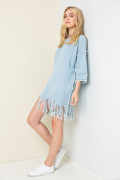 Frayed Dreams Denim Dress