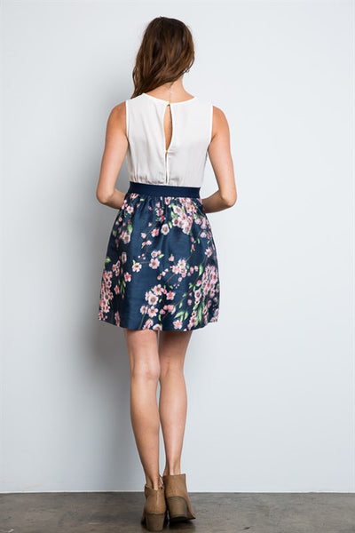 Two for Tea Dress NAVY