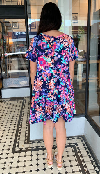 Marley Floral Dress Navy