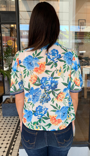 Josefina Button Down Floral Top