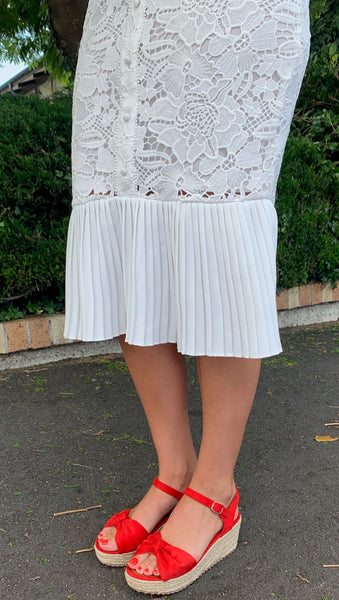 Amelius Aubree Lace Dress White