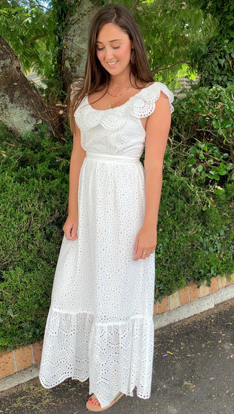 Amelius Ariel Dress White